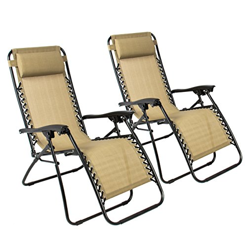 Popular Best ChoiceProducts Zero Gravity Chairs Tan Lounge Patio Chairs Outdoor Yard Beach New Set of 2 0 Inspirational - Simple Elegant Zero Gravity Chair Set Of 2 Modern