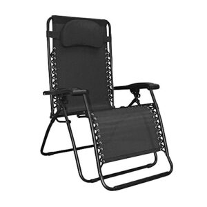 Caravan Canopy Oversized Black Zero Gravity Chair