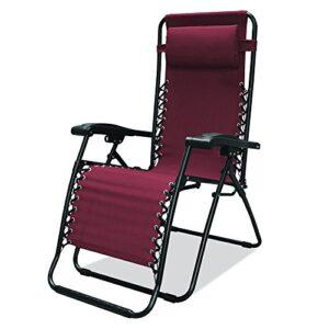 Caravan Canopy Sports Infinity Burgundy Zero Gravity Chair
