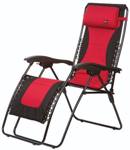 Faulkner 48977 Laguna Style Dual Padded XL Anti Gravity Chair, Extra Large  U2013 Red