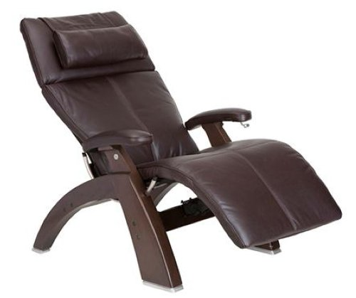 Human Touch PC 410 Zero Gravity Recliner Brown Leather