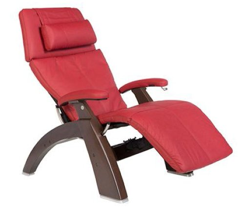 Human Touch PC-410 Zero-Gravity Recliner Red Leather