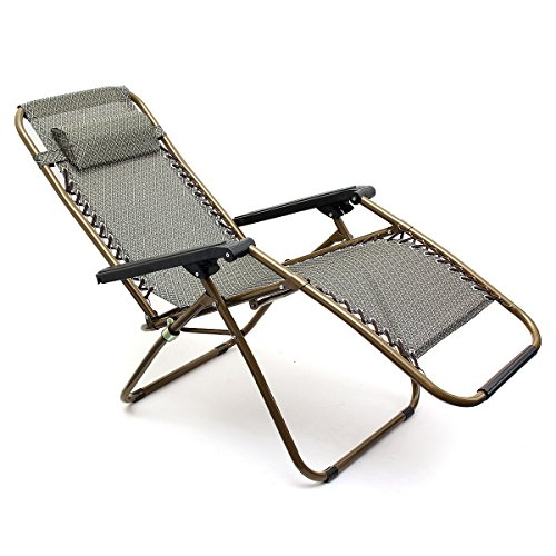 Kingso Sports Khaki Zero Gravity Recliner Chair
