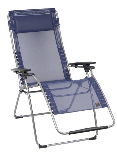 lafuma futura xl zero gravity chair blue iso batyline fabric. Black Bedroom Furniture Sets. Home Design Ideas