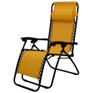 Outsunny Zero Gravity Recliner Lounge Chair Gold