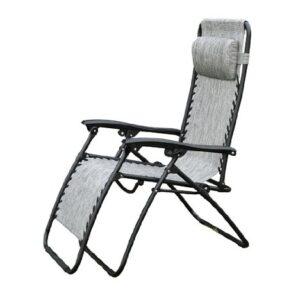 Outsunny Zero Gravity Recliner Lounge Chair Granite Grey