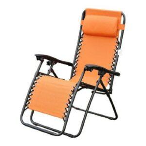 Outsunny Zero Gravity Recliner Lounge Chair Orange