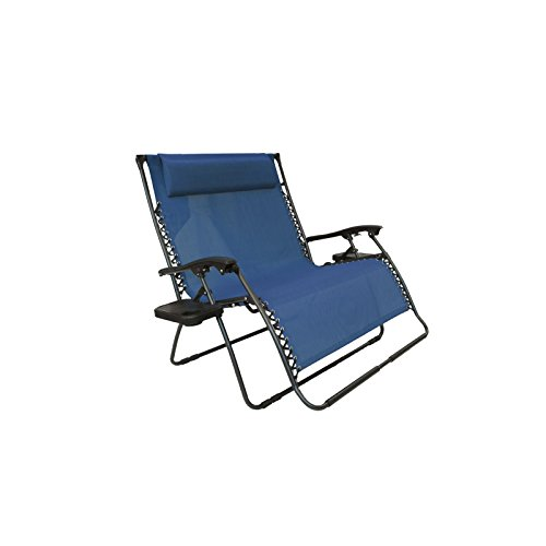 Bliss Hammocks 2 Person Zero Gravity Recliner Chair Blue