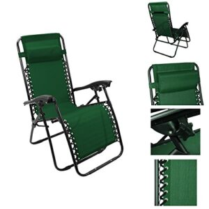 Outsunny Single Lounge Reclining Folding Chair Hunter Green