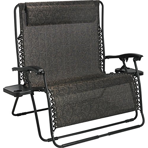 FCL Zero Gravity Loveseat Chair Brown Jaccard