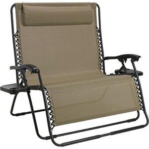 FCL Zero Gravity Loveseat Chair Sand