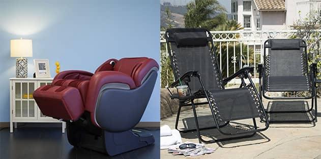 Indoor or Outdoor zero gravity chairs