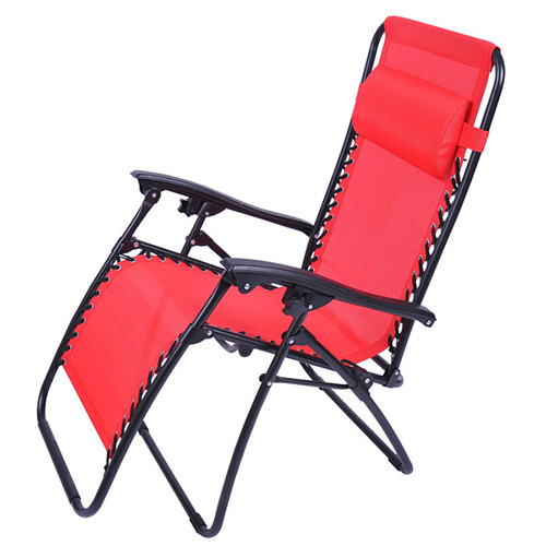 Outsunny Zero Gravity Recliner Lounge Chair Red