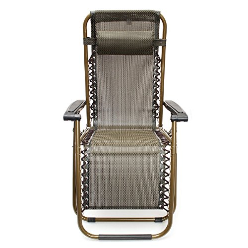 Kingso Sports Brown Zero Gravity Recliner Chair