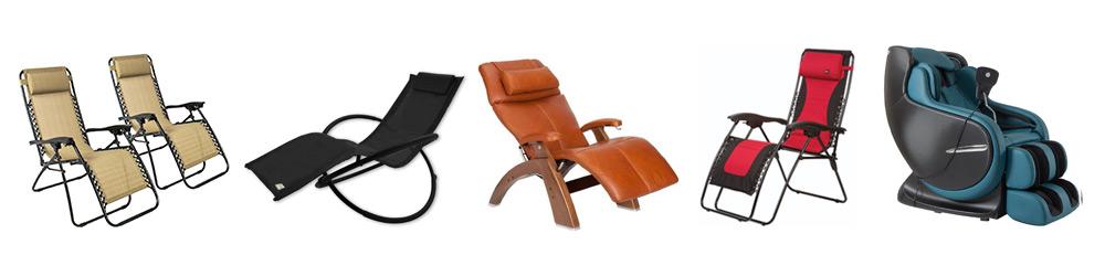 Types of zero gravity chairs