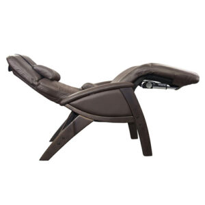 Svago Zero Gravity Chair Brown Leather Walnut Finish
