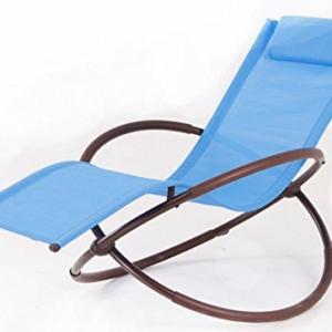 BELLEZZA Folding Orbital Zero Gravity Lounge Chair - Blue