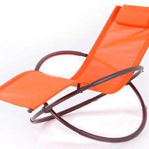 BELLEZZA Folding Orbital Zero Gravity Lounge Chair - Orange