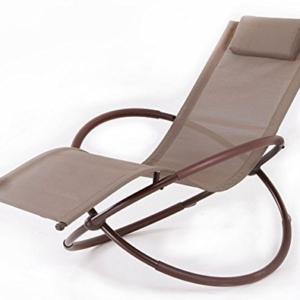 BELLEZZA Folding Orbital Zero Gravity Lounge Chair - Brown