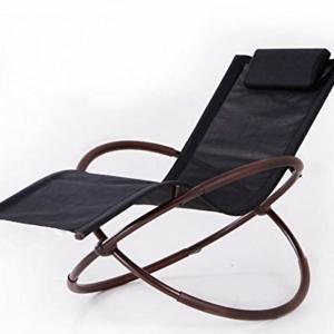 BELLEZZA Folding Orbital Zero Gravity Lounge Chair - Black