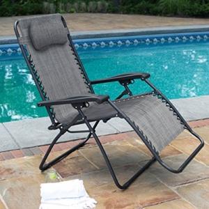 Caravan Sports Infinity Oversized Gray Zero Gravity Chair