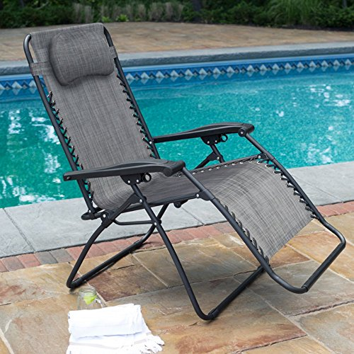 Caravan Sports Infinity Oversized Gray Zero Gravity Chair
