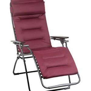 Lafuma Futura Air Comfort Padded Zero Gravity Chair - Bordeaux Red