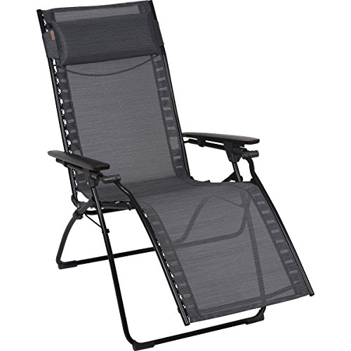 Lafuma LFM2668-6897 Evolution Zero Gravity Recliner Chair - Obsidian