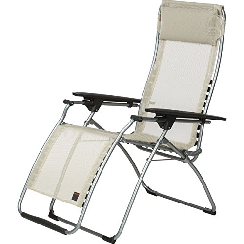 Lafuma futura zero gravity recliner grey steel frame - Lafuma camping table ...