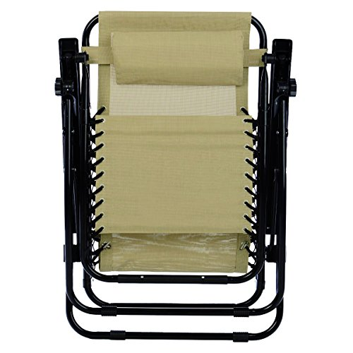 Odaof Adjustable Infinity Set Of 2 Outdoor Zero Gravity Chairs Cream Our Rating 4 5 Out Of 5