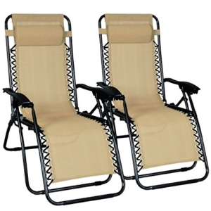 Odaof Zero Gravity Chair Biege Set of 2