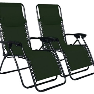 Odaof Zero Gravity Chair Green Set of 2