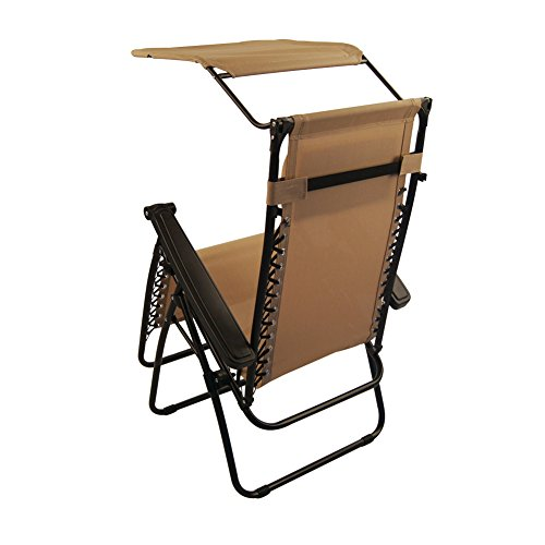 Sundale Outdoor Zero Gravity Chair with Canopy Tan OUR RATING 4 6 out of 5