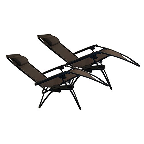 Sundale Outdoor Zero Gravity Recliner Chairs 2 Pack With