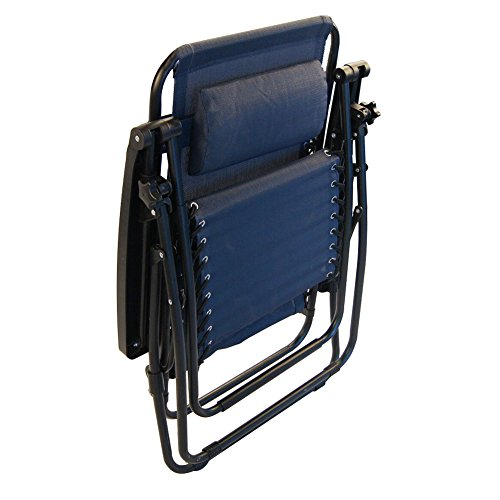 Sundale outdoor zero gravity recliner chairs 2 pack with cup holders navy blue our rating 4 2