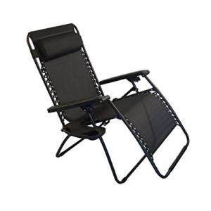 Sundale Outdoor Oversided Zero Gravity Chair - Black