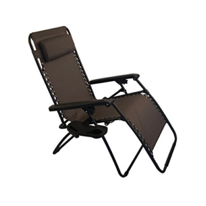Sundale Outdoor Oversided Zero Gravity Chair - Brown