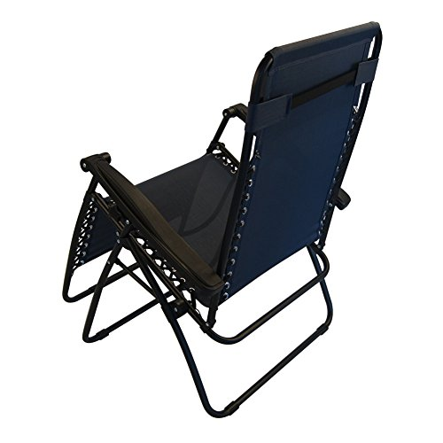 Sundale Outdoor Oversized Outdoor Zero Gravity Reclining Chair Navy Blue OU