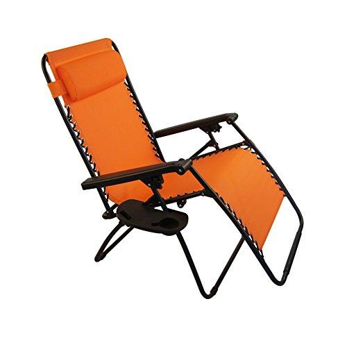 Sundale Outdoor Oversided Zero Gravity Chair   Orange