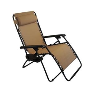 Sundale Outdoor Oversided Zero Gravity Chair - Tan