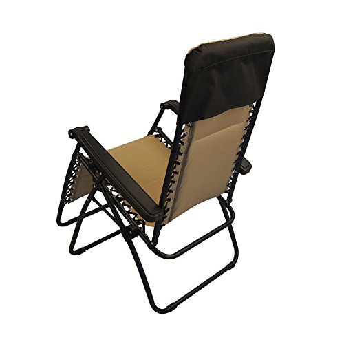 Sundale Outdoor Quilted Zero Gravity Chair with Utility Tray Tan OUR RATING