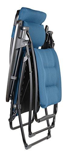 lafuma futura air comfort zero gravity recliner black frame coral blue air comfort fabric. Black Bedroom Furniture Sets. Home Design Ideas