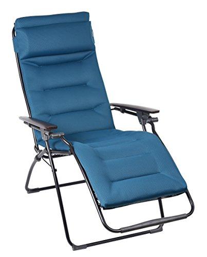 lafuma futura air comfort zero gravity recliner black frame coral blue air comfort fabric. Black Bedroom Furniture Sets. Home Design Ideas