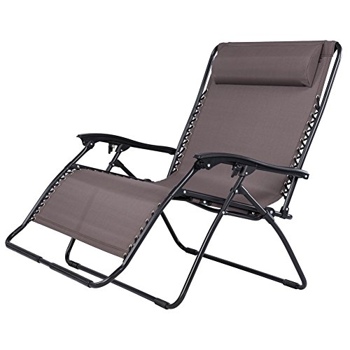 Sundale Outdoor 2 Person Zero Gravity Outdoor Chair Loveseat Brown Our Rating 4 7