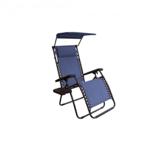 Bliss Hammocks Anti Gravity Chair Recliner with Sun Shade - Blue