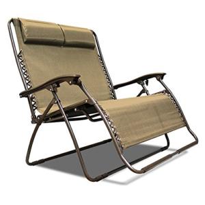 Caravan Canopy Sports 2 Person Zero Gravity Chair Loveseat - Beige