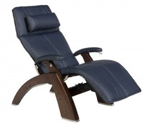 Human Touch PC-410 Zero-Gravity Recliner Blue Leather