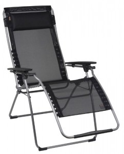 Lafuma Futura XL Zero Gravity Chair - Black Iso Batyline Fabric