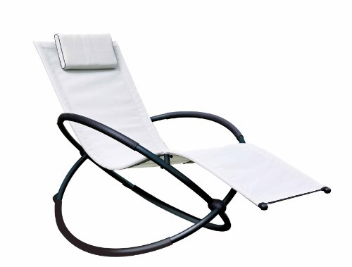 Urban Furnishing White Zero Gravity Orbital Patio Lounger
