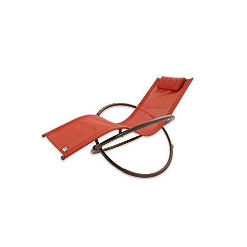 RST Outdoor Orbital Zero Gravity Patio Lounger Orange